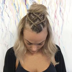 Criss cross braided bun by Circles of Subiaco