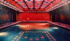 Swimming pool designed by Verner Panton, Hamburg, 1969