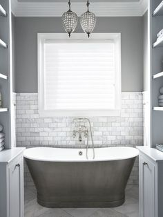 Bath Design | Gray Bathrooms | Monochrome Color | Home Interior