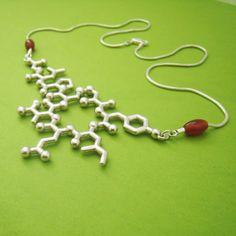 oxytocin molecule necklace  bonding empathy and par molecularmuse, $240.00