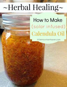 Herbal Healing How to Make Calendula Oil (via Solar Infusion)