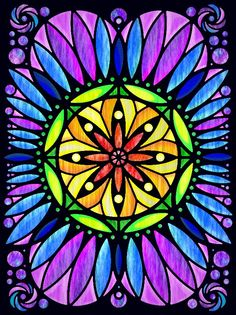 Andrea Spencer (18+ division) from   Out of this World Circular Designs Stained Glass Coloring Book: http://store.doverpublications.com/0486497763.html