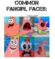 Common fan girl faces