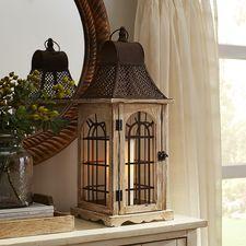 Wood Arch Lantern