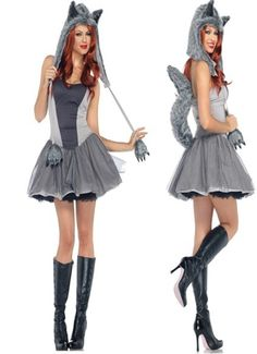 Tassel Wolf Costume Gray | Animal Costume | Pinterest | Wolf costume Animal costumes and Tassels  sc 1 st  Pinterest : plus size indian halloween costumes  - Germanpascual.Com