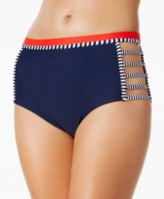 Tommy Hilfiger Strappy High-Waist Bikini Bottoms | macys.com