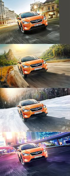 Before-After compilation #3 Cars ads by Denis Kornilov, via Behance
