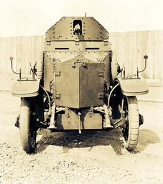 Rolls Royce armoured car, the posh way to go to war.