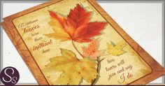 Fall Wedding Invitations Maple Leaves Autumn