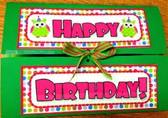 Cute class birthday file folder card with FREE owl templates