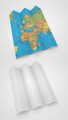Free White Map PSD Mockup #freepsdfiles #freepsdmockups #psdtemplate #freebies #presentationmockups
