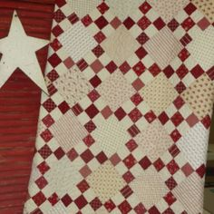 Wonderful Red  and white Nine-Patch in scraps
