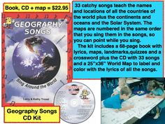 Audio Memory - Kathy Troxel (800)365-SING Music/Books/new/used | Audio Memory/Educational Music/New and Used Books | Geography