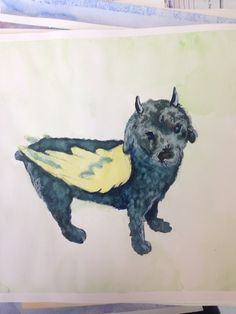 watercolor creature
