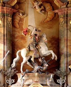St.George  Bichl Parish Church of St.George, Bavaria, Germany Johann Baptist Straub (1704  –  1784) German Rococo sculptor.