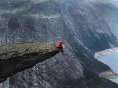 Cliff's edge.