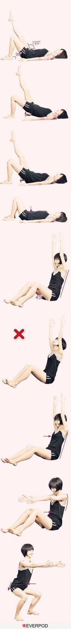 Exercicis bàsics per estirar el cos. Fantàstic tenir-ho a ma!