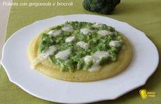 Polenta con gorgonzola e broccoli Appetisers, Couscous, Gnocchi, Avocado Toast, Appetizer Recipes, Catering, Food And Drink, Favorite Recipes, Homemade