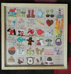 little squares of personal family significance. Penny Thomas's photos on Photobucket. Embroidery Sampler, Cross Stitch Embroidery, Machine Embroidery Designs, Embroidery Patterns, Hand Embroidery, Halloween Patterns, Sewing Appliques, Needlework, Diy And Crafts
