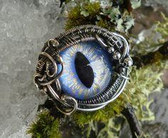 Gothic Steampunk Sterling Silver Blue Eye by twistedsisterarts
