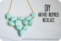DIY Anthro Inspired Seafoam Necklace