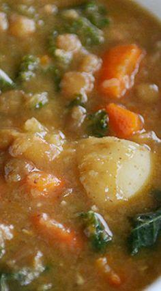 Smoky Lentil & Potato Soup (Pressure Cooker or Stovetop)