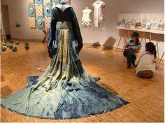 Japanese beauty, denim gown..