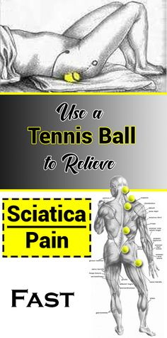 Use a tennis ball to quickly relieve sciatica pain, . - Use a tennis ball to quickly relieve sciatica pain - Sciatica Pain Relief, Sciatic Pain, Sciatica Stretches, Fitness Inspiration, Yoga Fitness, Health Fitness, Fitness Foods, Fitness Hacks, Massage