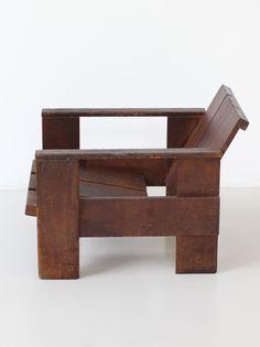 Gerrit Rietveld; 'Kratstoel' Armchair, 1934.