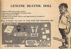 Genuine Beatnik Doll. Don't tell me this was a real thing.