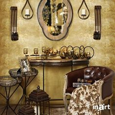 Gold hues embrace my home... and the lovely memories I create in it. With you. #inartLiving #HomeDecor #Decoration #FurnitureDesign #Furniture