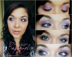 Eye makeup inspired by Disney's Tangled.