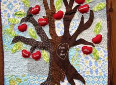 Family tree quilt with people as fruit!!!