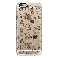 iPhone 6 Plus/6/5/5s/5c Case - Potted Plants (Black on Clear) (170 MYR) ❤ liked on Polyvore featuring accessories, tech accessories, phone, phone case, iphone case, apple iphone cases, iphone cover case, black iphone case и clear iphone cases