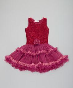 Another great find on #zulily! Burgundy Pettidress - Toddler & Girls #zulilyfinds
