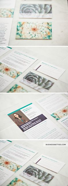 Business Card and Rack Card Design for Mental Health Counselor / Therapist. Designed by Business Betties. Graphic Designer Allison Biggs. Business Portrait by Suzanne Larocque. #printdesign #branding #graphicdesign