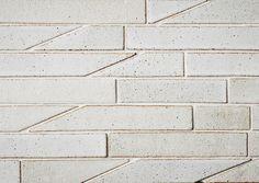 Anchor Ceramics - 45 Cut series tiles shown in white speckled glaze Interior Walls, Home Interior, Interior And Exterior, Floor Design, Tile Design, Tile Patterns, Textures Patterns, Floor Patterns, Architecture Details
