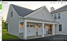 Grey House White Trim, Garage Addition, Grey Houses, Beach House, Shed, Floor Plans, Outdoor Structures, Flooring, Architecture