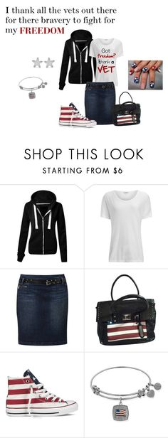 """""""Thank a vet"""" by maggiesmelody ❤ liked on Polyvore featuring James Perse, Freeman T. Porter, Aimee Kestenberg, Converse and George & Laurel"""