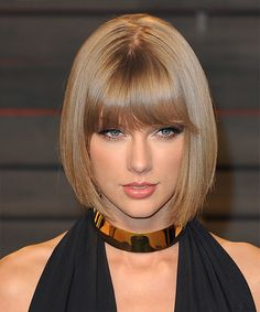 Taylor Swift Bob Hairstyle - Medium Straight Formal -