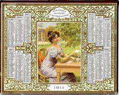 calendrier 1911