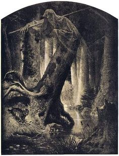 Artur Grottger - Lituania, I. Puszcza, 1866