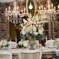 LE CHATEAU || Just a little something GORGEOUS that we had the privilege of styling this year. Thank you for the feature today @Sarah Chintomby Mariel Photography Weddings #rustic #elegance #tablescape #weddinginspiration #luxe #Padgram
