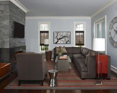Family Room With Brown Sectional Sofa And Eclectic Style Design, Pictures, Remodel, Decor and Ideas - page 4