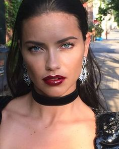 morgane_martini: This Beauty  @adrianalima last night for the @cfda #hair by @anthonycristianosalon #makeup by me using @maybelline @thewallgroup #teamlima #adrianalima #makeuplover #beautyaddict #beauty #lips #maybelline #maybellinegirls #nofilter...