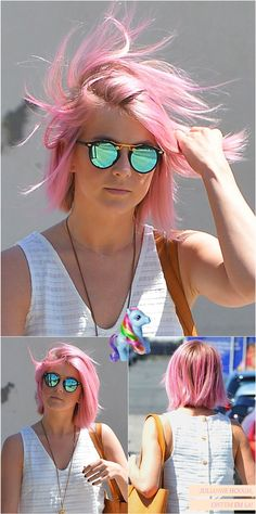 pink show pastel**** Color Your Hair, Hair Color And Cut, Haircut And Color, Hair Inspo, Hair Inspiration, Blonde Dye, Pink Hair Dye, Rose Hair, Girl Short Hair