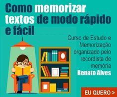 Confira todos os curso do Renato Alves Aqui >> http://vivabemonline.com/curso-memorizacao-renato-alves/ E faça seu cadastro para receber as vídeo aulas gratuitas!