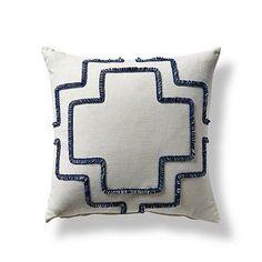 Brush Fringe Trellis Pillow - Frontgate
