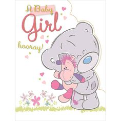 New Baby Girl Large Me to You Bear Card £3.59