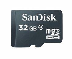 SanDisk microSDHC 32GB Flash Memory Card (Retail Packaging) SDSDQM-032G-B35,Black